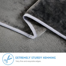 Fleece Blanket Super Soft Warm Extra Silky Lightweight Bed Blanket, Couch Blanket, Travelling and Camping Blanket (Grey)