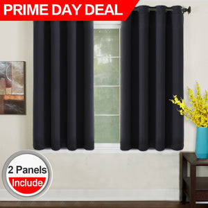 TEKAMON Blackout Curtains Thermal Insulated Grommet Draperies Room darkening Panels for Living room, Bedroom, Nursery