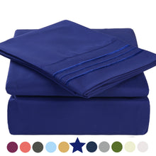 Microfiber Bed Sheet Set - Made Of 1800 Thread Count 100% Microfiber Polyester - Extra Deep Pocket - Stain Resistant, Warm, Breathable And Hypoallergenic - 3/4 Piece (Royal Blue) - TEKAMON