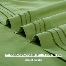 Microfiber Bed Sheet Set - Made Of 1800 Thread Count 100% Microfiber Polyester - Extra Deep Pocket - Stain Resistant, Warm, Breathable And Hypoallergenic - 3/4 Piece (Green) - TEKAMON