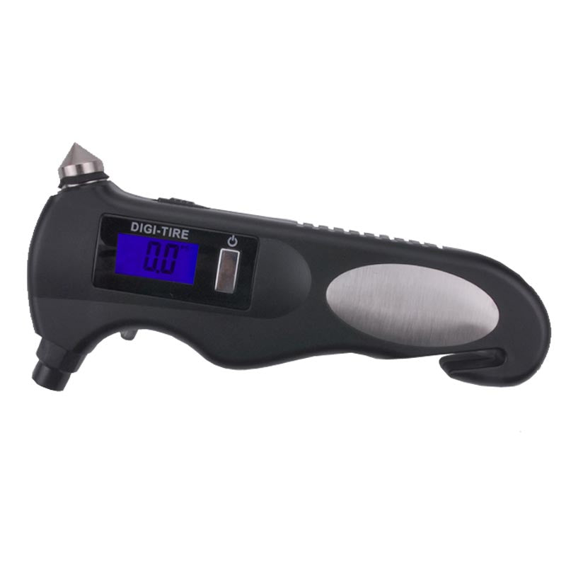 Safety hammer multi-function electronic tire pressure gauge, digital with backlight car tire pressure gauge, free shipping