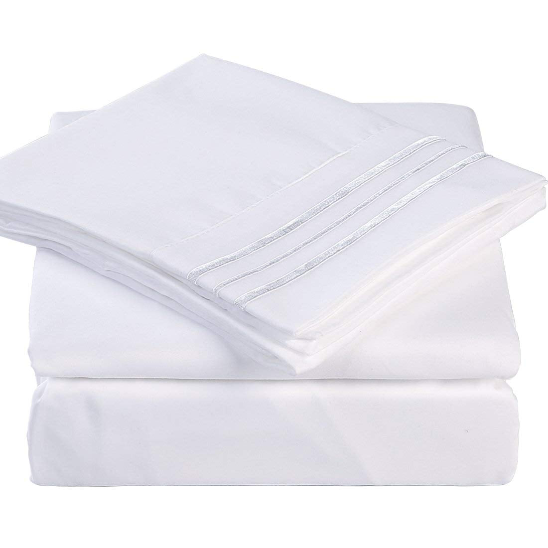 Microfiber Bed Sheet Set Made Of 1800 Thread Count 100