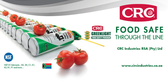 CRC Food Safe through the line