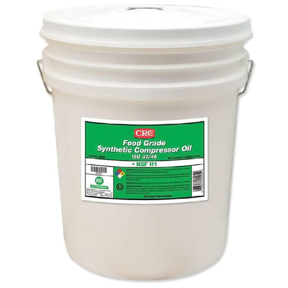 CRC - (4202) FOOD GRADE SYNTHETIC COMPRESSOR OIL ISO 32/46, 5 GAL - incl VAT - Chemqua