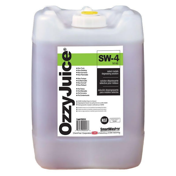 CRC - (14148) SMARTWASHER® OZZYJUICE® SW-4 HEAVY DUTY DEGREASING SOLUTION, 5 GAL - incl VAT - Chemqua