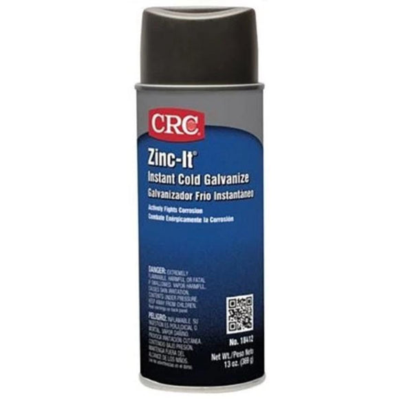 CRC - (18412) ZINC-IT® INSTANT COLD GALVANIZE, 13 WT OZ, SINGLES & CASES - incl VAT - Chemqua