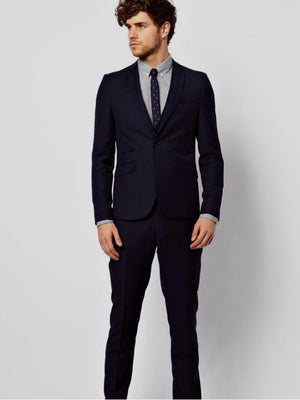Slim Fit Suit In black