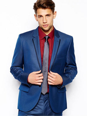 Slim Fit Suit In Sharkskin