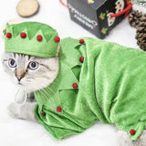 Elf Christmas pet costume