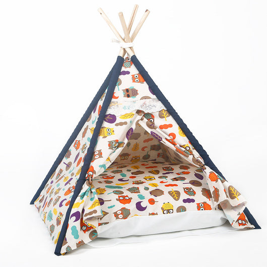 Owl Pet TeePee Bed - Always Whiskered