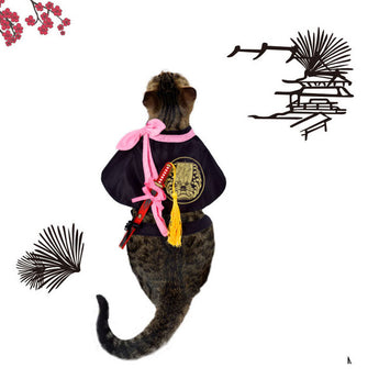 Japanese Samurai Pet Costume ( 4 designs ) - Always Whiskered