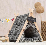 Damask Pet Tee Pee - Always Whiskered