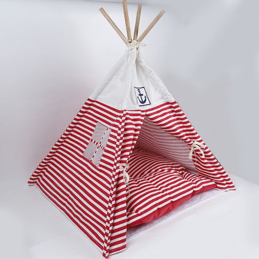 Navy TeePee Bed - Always Whiskered
