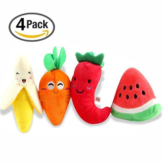Fruits Squeaky Toy (Pack of 4) - Always Whiskered