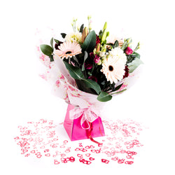 Luxury Lily, Rose and Large Flower Hand Tied Bouquet, Bouquet,- Creations Flowers