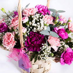 Beautiful Basket Arrangement - Pinks, Baskets,- Creations Flowers