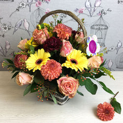 Flower Basket Arrangement, Baskets,- Creations Flowers