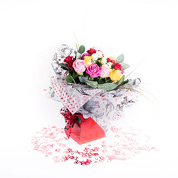 Beautiful Mixed Roses Bouquet - Hand Tied, Bouquet,- Creations Flowers