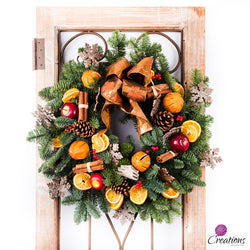 Christmas Wreath Traditional, Medium, Wreaths,- Creations Flowers