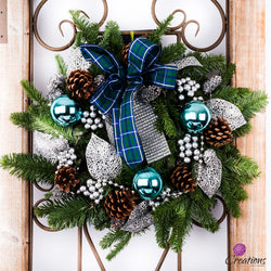 Christmas Wreath Traditional, Standard, Wreaths,- Creations Flowers
