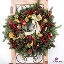 Christmas Wreath Traditional, Large, Wreaths,- Creations Flowers