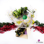 Beautiful Christmas Hand Tied Bouquet, Parrot Tulips, Bouquet,- Creations Flowers