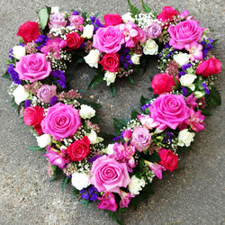 Open Floral Heart, Wreaths,- Creations Flowers