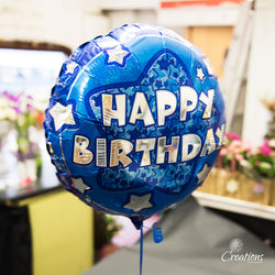Helium Filled Celebration Balloons, Foil Balloons,- Creations Flowers