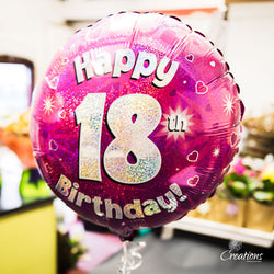 Helium Filled Birthday Balloons, Foil Balloons,- Creations Flowers