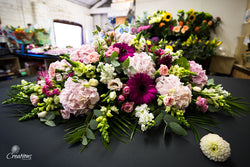 Casket Spray of Flowers - Double Ended, Wreaths,- Creations Flowers