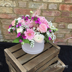 Luxury Flower Arrangement in Presentation Hat Box, ,- Creations Flowers