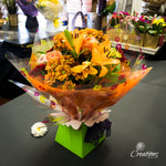 Beautiful Flower Bouquet Hand Tied - Oranges, Bouquet,- Creations Flowers