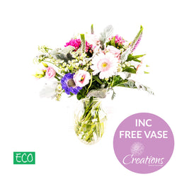 Eco Friendly Glass Vase Luxurious Flower Arrangement, Arrangements,- Creations Flowers