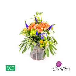 Eco-Friendly Milk Churn Luxurious Flower Arrangement, Arrangements,- Creations Flowers