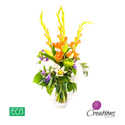 Eco-Friendly Tall Vase Luxurious Flower Bouquet, Bouquet,- Creations Flowers