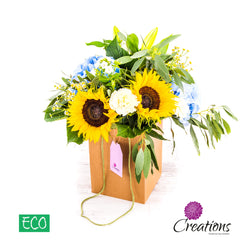 Eco-Friendly Decorative Natural Carrier Luxury Flower Arrangement, Arrangements,- Creations Flowers