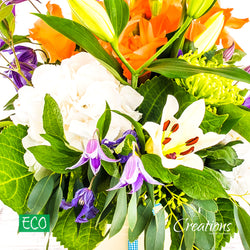 Eco-Friendly Cream Decorative Container Luxurious Flower Arrangement, Arrangements,- Creations Flowers