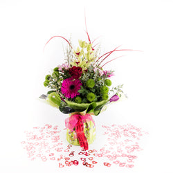 Luxury Orchid, Rose, Mixed Flower Vase Arrangement, Arrangements,- Creations Flowers