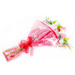Luxury Rose and Lily Gift Wrapped Bouquet, Bouquet,- Creations Flowers
