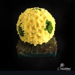 Football Flower Tribute, Wreaths,- Creations Flowers