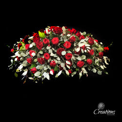 Casket Spray of Roses - Double Ended, Wreaths,- Creations Flowers