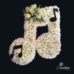 Musical Notes Flower Tribute, Wreaths,- Creations Flowers