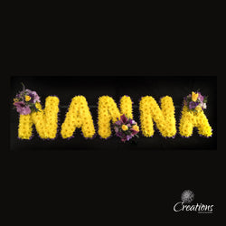 Flower Name Tribute - Nanna, Wreaths,- Creations Flowers