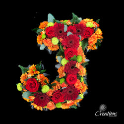 Flower Letter Tribute, Wreaths,- Creations Flowers