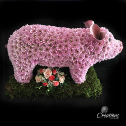Pig Flower Tribute, Wreaths,- Creations Flowers