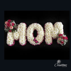 Flower Name Tribute - Mum, Wreaths,- Creations Flowers