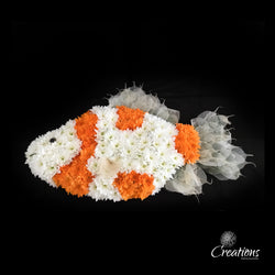 Fish Flower Tribute, Wreaths,- Creations Flowers