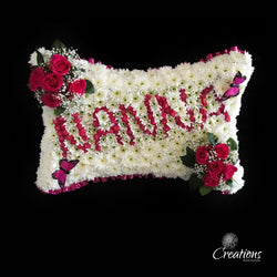 Nanna Pillow Flower Tribute, Wreaths,- Creations Flowers