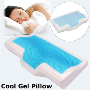Memory Foam Cool Gel Pillow - Summer Ice-cool Anti-snore Neck Orthopedic Sleep Pillow