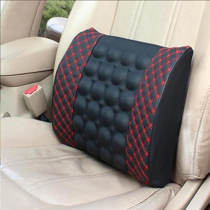 Car Back Massager Vibrating Car Seat Cushion Back Pillow Lumbar Support Waist Massager